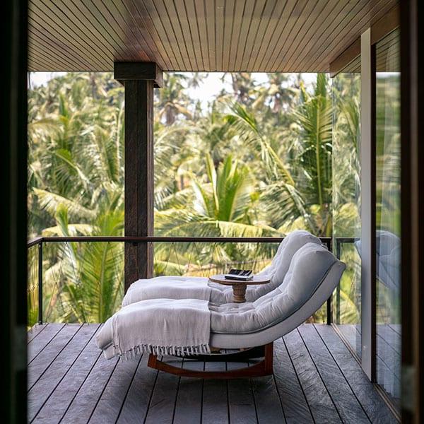 Deluxe Suite balcony Ubud Sanctuary Bali Retreat