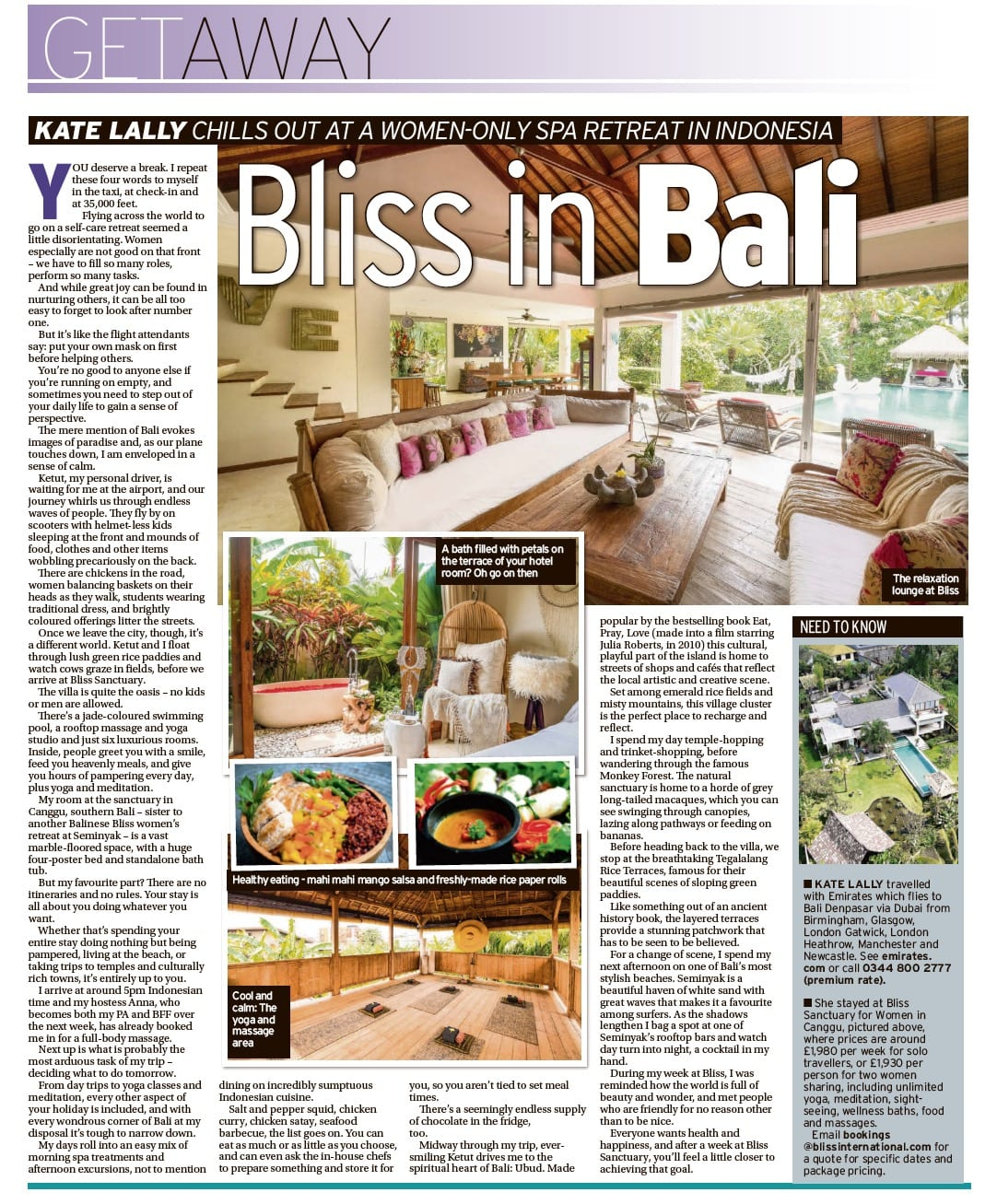 Bliss in Bali – Courier Getaway - Bliss Sanctuary For Women
