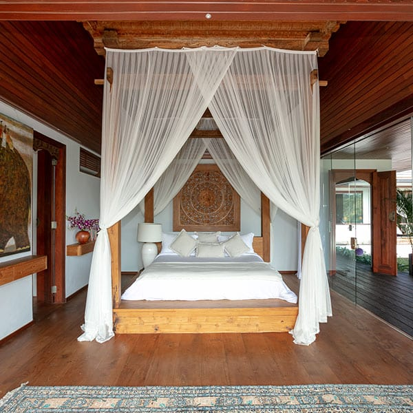 Gorgeous bedroom Deluxe Suite Ubud Sanctuary Bali Retreat