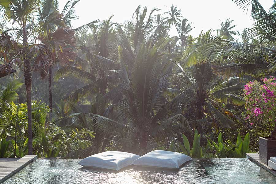 Infinity pool Ubud wellness retreat