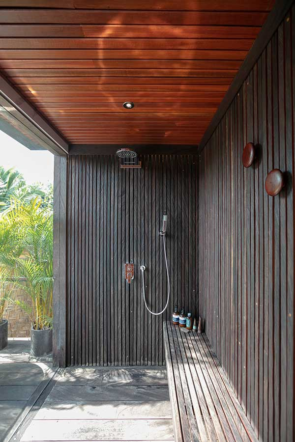 Luxury outdoor shower spa Ubud