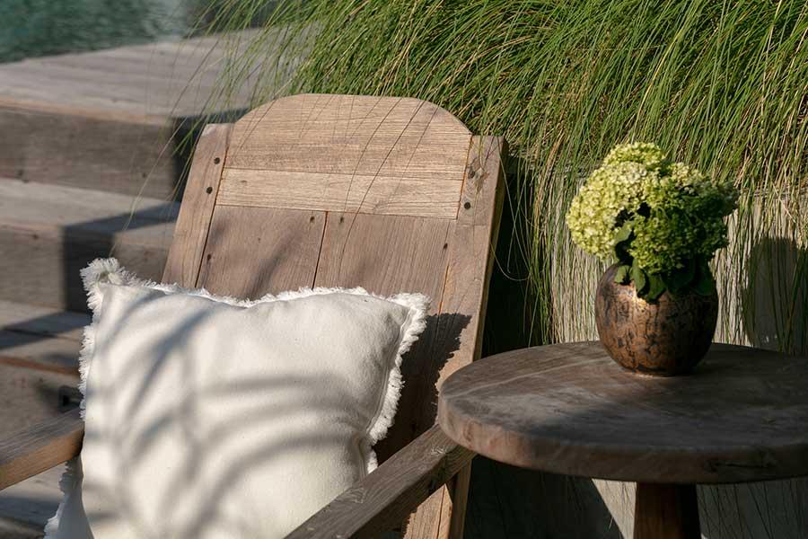Relaxing chair Ubud wellness retreat