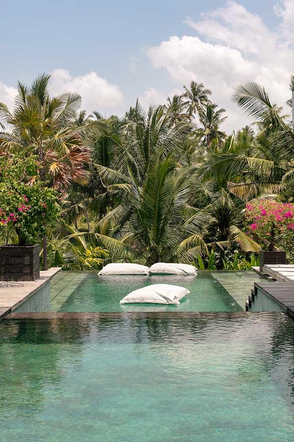 Stunning infinity pool Ubud Bali resort