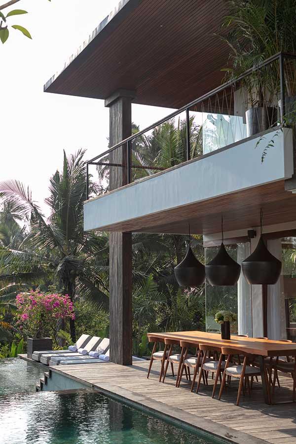 Stunning pool and balcony Ubud Bali resort