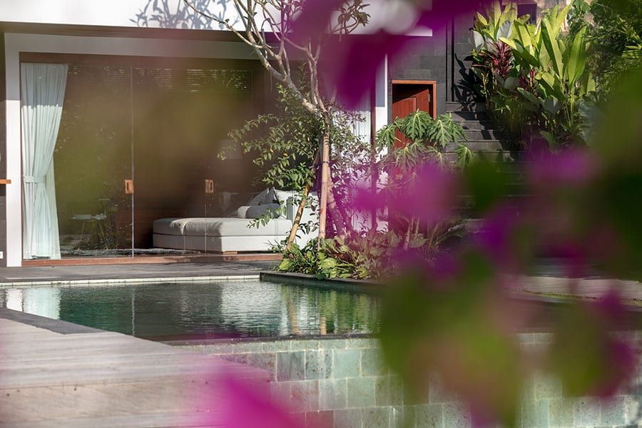 Stunning pool and garden Ubud Bali resort