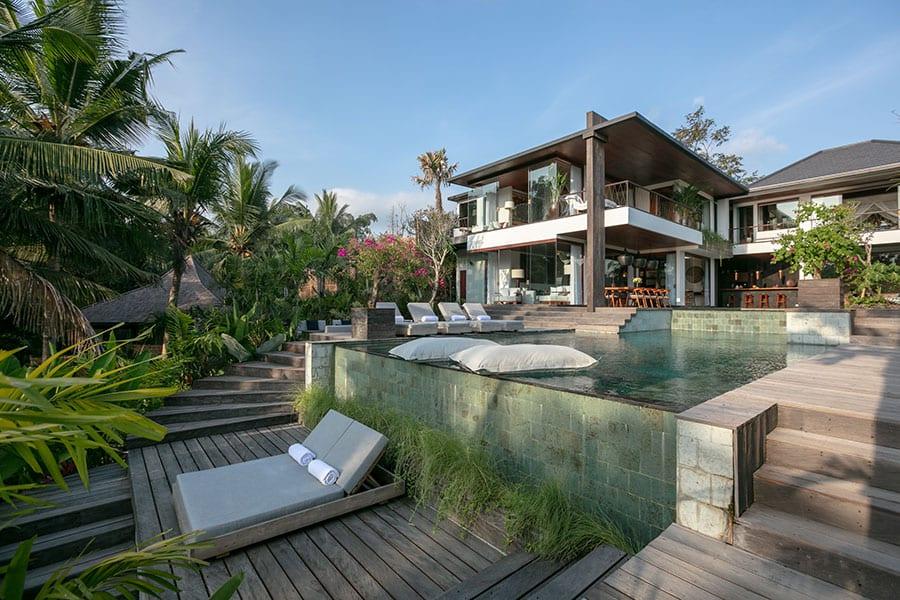 Stunning pool setting Ubud Bali resort