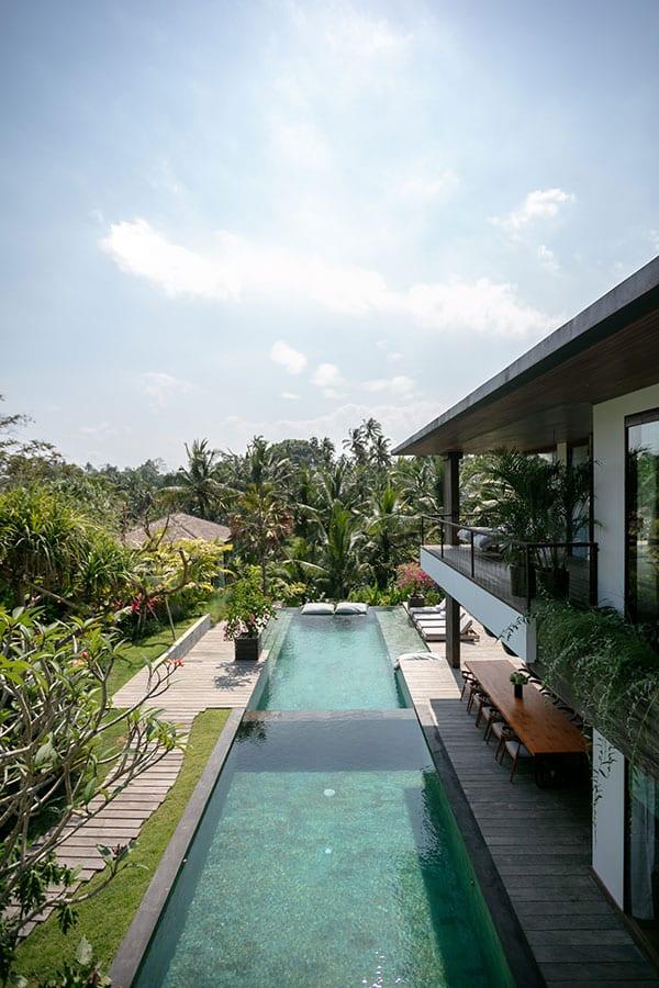 Stunning pool Ubud Bali resort