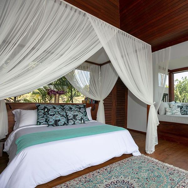 Gorgeous Rainforest Room bedroom in Ubud Bali Retreat
