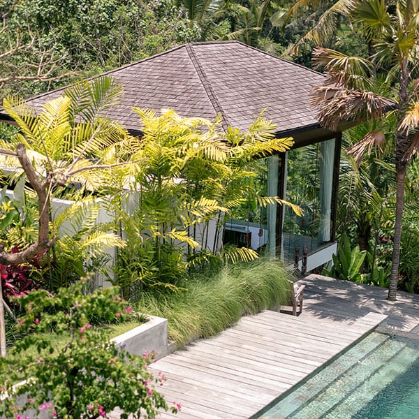 Ubud luxury pool garden in Bali retreat