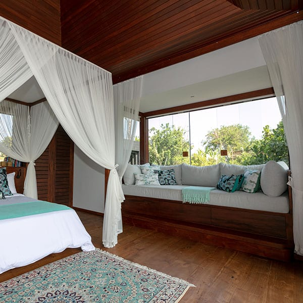 Ubud luxury Rainforest Room Bathroom in Bali Retreat