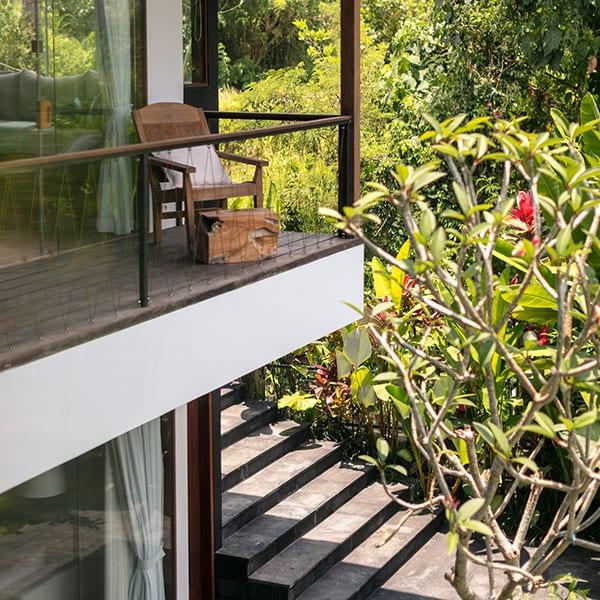 Ubud Rainforest Room with balcony in Bali Retreat