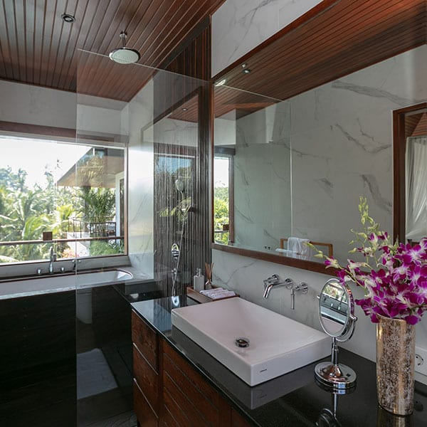 Rainforest Room Bathroom in Ubud Bali Retreat