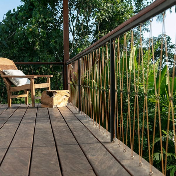Ubud Rainforest Room Bali Retreat balcony