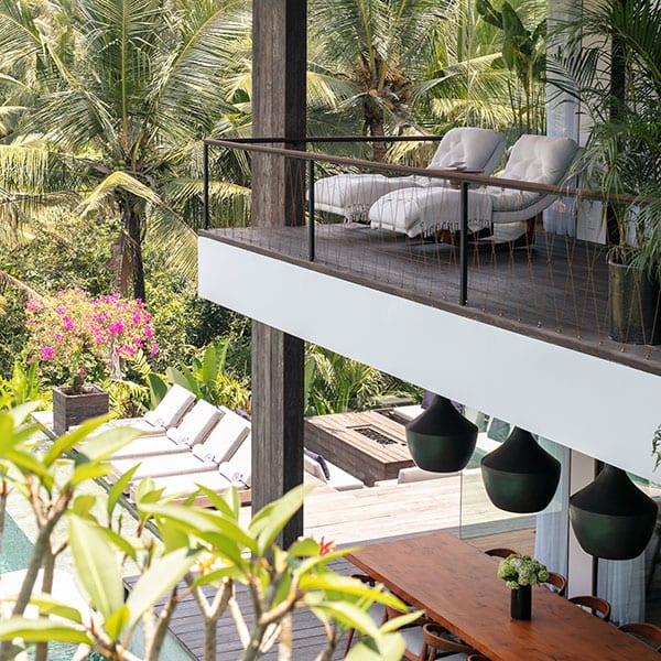 Ubud Sanctuary Bali Retreat Deluxe Suite with balcony view