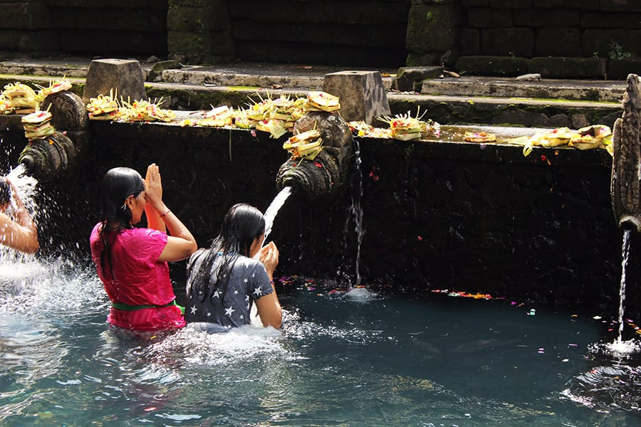 Ubud water temple Bali retreat holiday