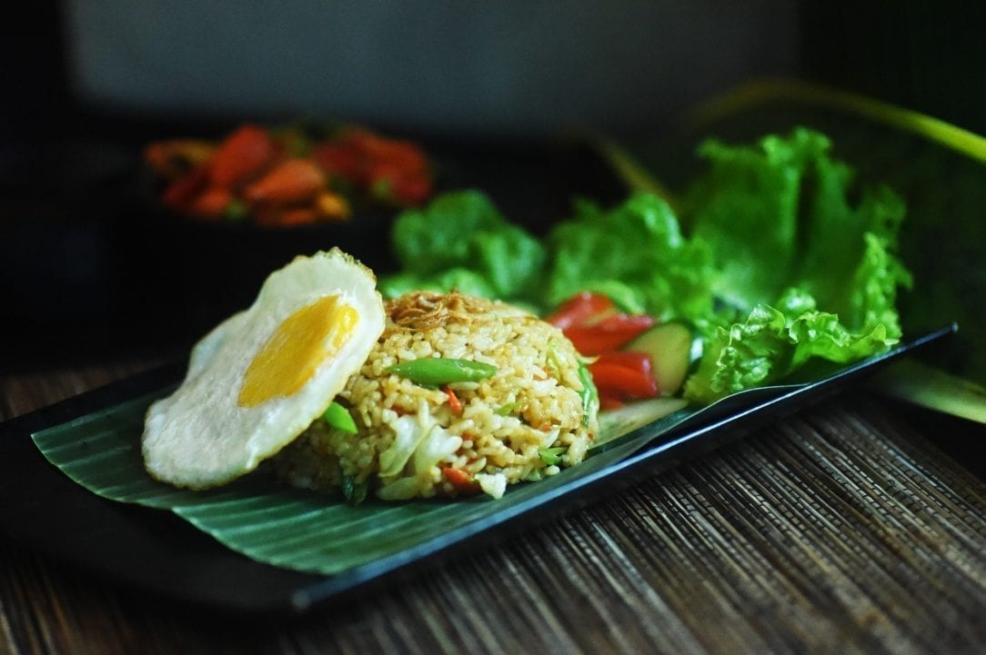 Delicious Nasi Goreng at Bliss Bali retreat