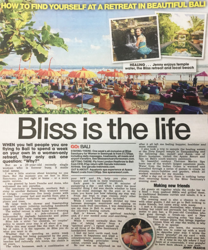The Sun: Bliss is the life