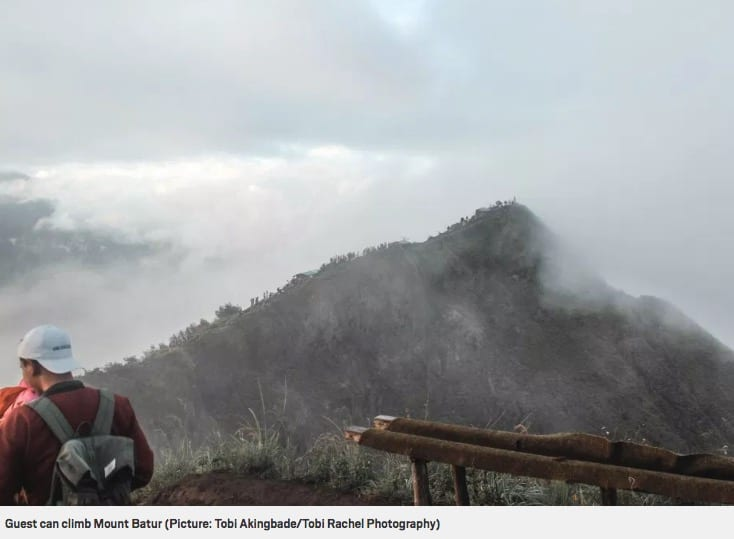 Guests can climb Mount Batur, Metro online article Bliss Bali retreat