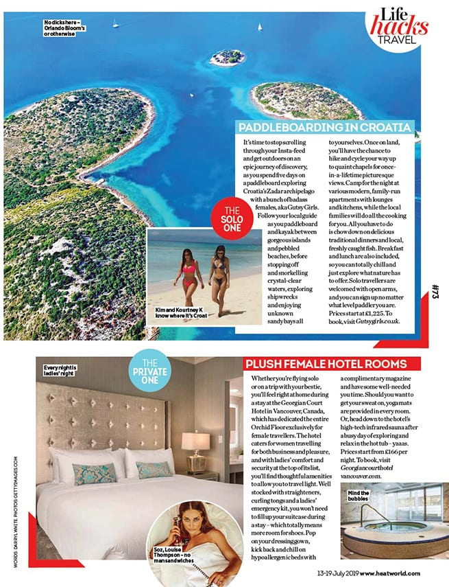 Bliss Bali retreat featured in Heat Magazine 'Girls just want to have sun'