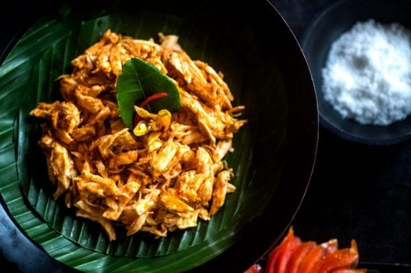 Ayam Pelalah (Shredded Chicken with Chillies and Lime)
