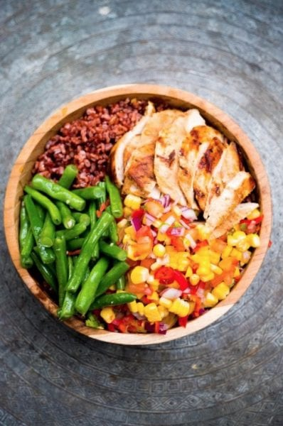 Healthy Bowl, Chicken Spicy Salsa