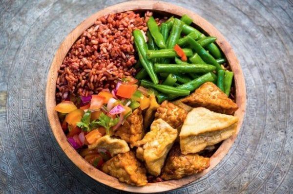 Healthy Bowl, Tofu Tomato Salsa