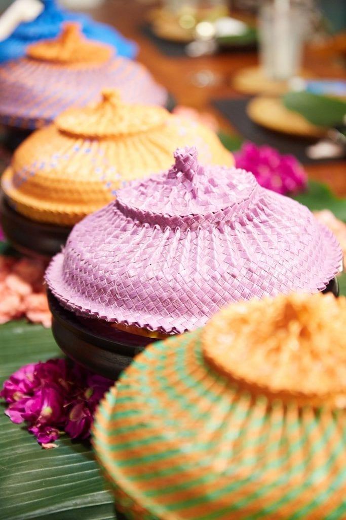 Pretty coloured food servers, Bliss Bali retreat
