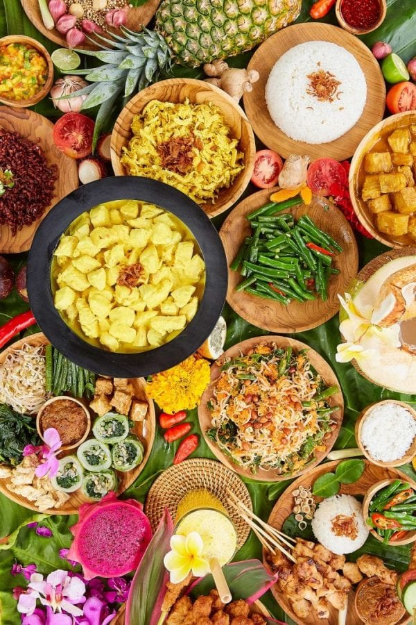 Unlimited food at Bliss Bali retreat