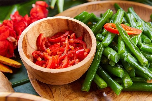 Vegan Menu, Green beans with chilli and lime
