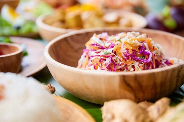 Vegan Menu, Asian coleslaw