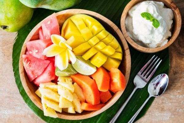 Breakfast Menu, Bowl of Tropical Fruit