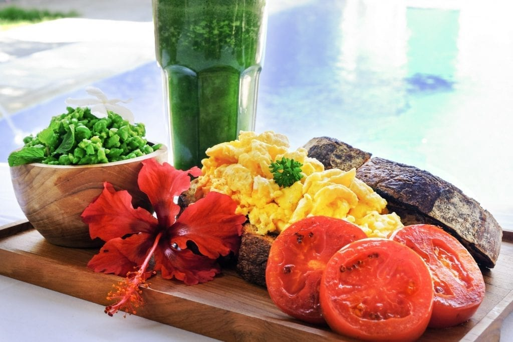 Bliss retreat breakfast