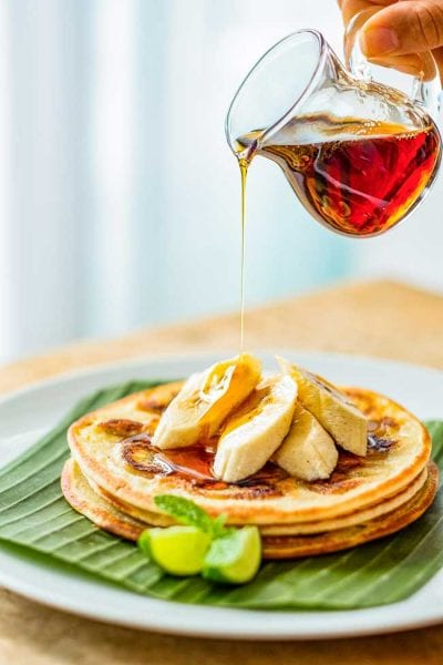 Bliss Breakfast Menu, Banana Pancakes