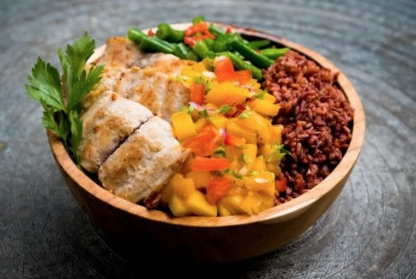 Healthy Bowl - Mahi Mahi with Mango Salsa