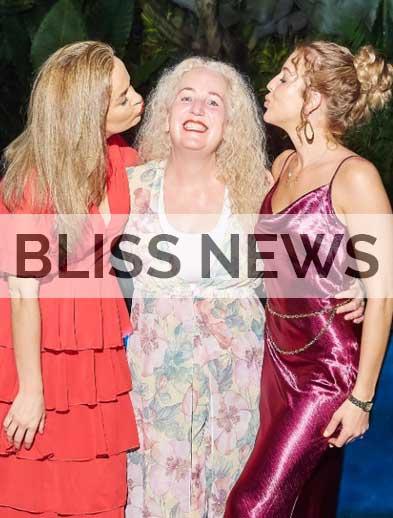 Bliss News Lydia Bright and mum and sister at Bliss Bali Retreat