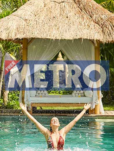 Metro Newspaper Bliss retreat Bali