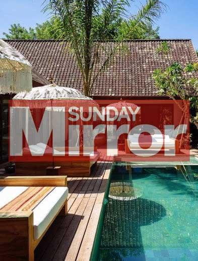 Sunday Mirror Newspaper Bliss retreat Bali