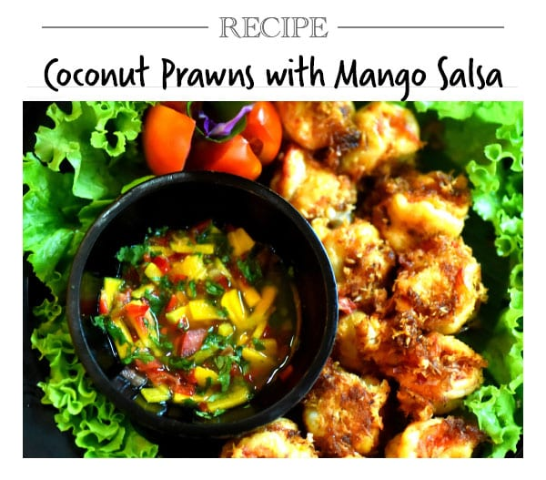 Recipe, Coconut Prawns with Mango Salsa