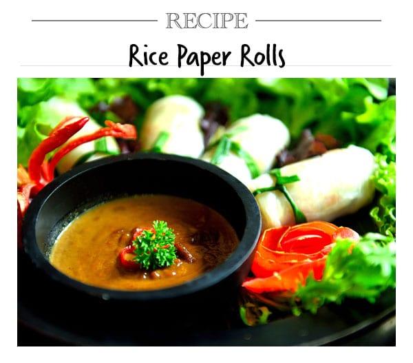 Recipe, Rice Paper Rolls