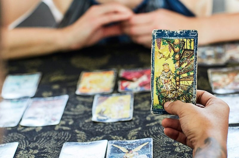 Tarot card reading at Bliss Bali retreat