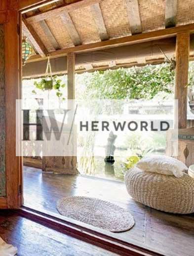 Her World website, Bliss Sanctuary For Women luxury bedroom