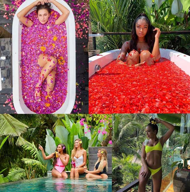 Love Island Stars at Bliss Bali retreat