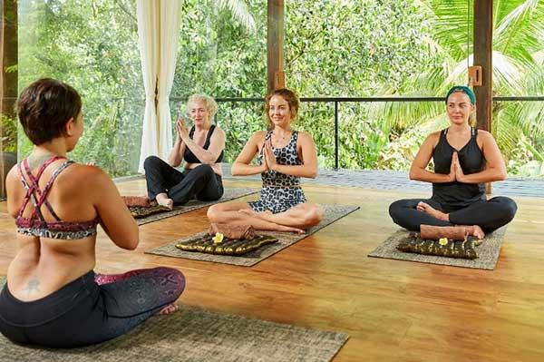 Lydia, Debbie and Georgia Bright at Bliss Bali retreat