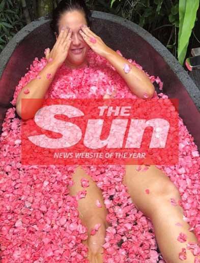 The Sun, Hello petal pose at Bliss Bali netreat