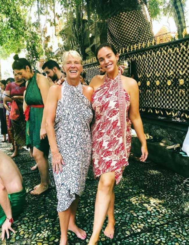 Vicky Pattison and her mum Carol at Bliss Bali Sanctuary