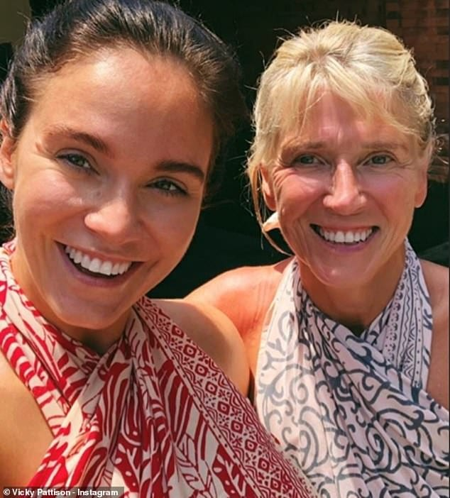 Mother, daughter time: Vicky's mother Caroll has flown to Bali with her for some quality time
