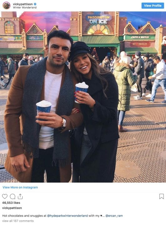 Vicky Pattison and boyfriend Ercan on Instagram