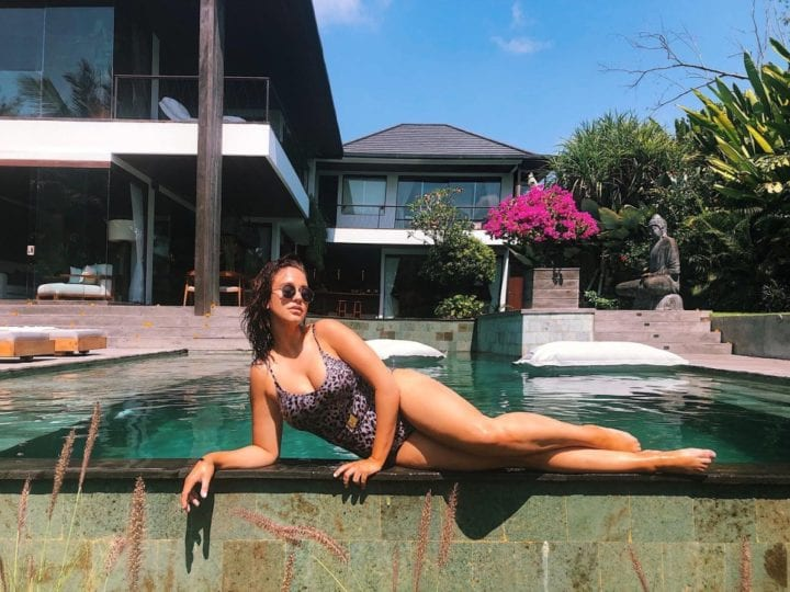 vicky pattison poolside at bliss bali retreat