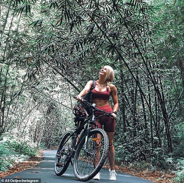 Ali Oetjen 2018 Bachelorette bike riding in Bali