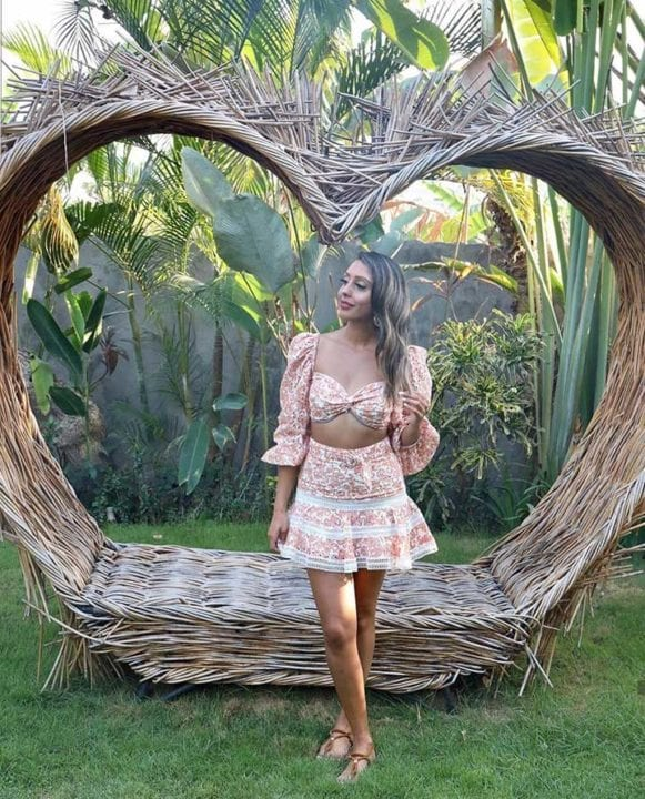 Guest in beautiful garden at Bliss Bali retreatGuest in beautiful garden at Bliss Bali retreat
